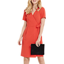 Buy Oasis Wrap Dress, Coral Online at johnlewis.com