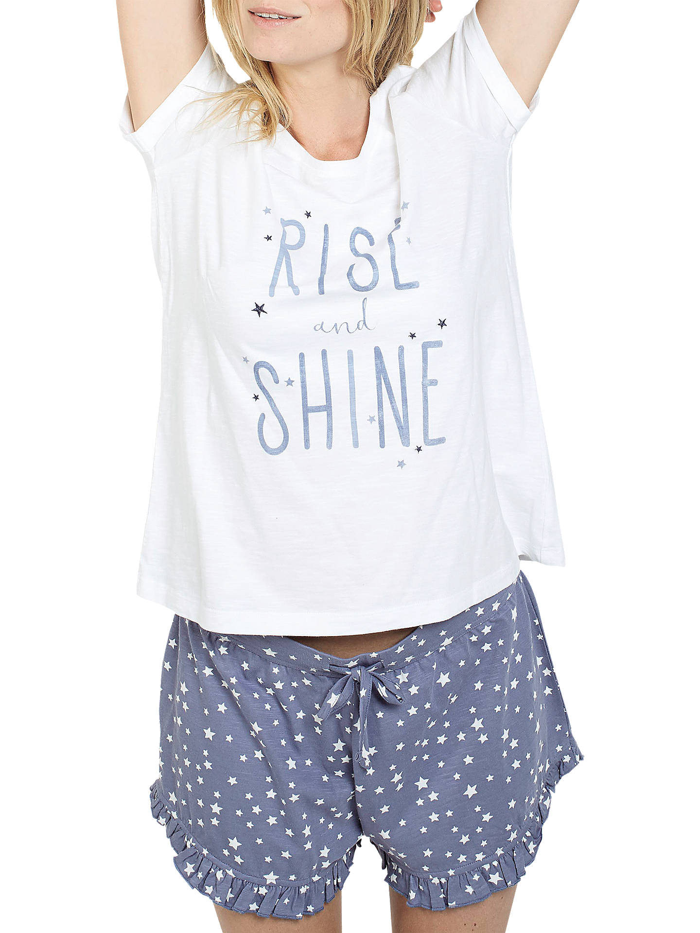 BuyFat Face Slogan Pyjama Set, Chambray, 6 Online at johnlewis.com