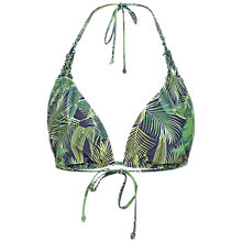 Buy Fat Face Tropical Moulded Bikini Top, Navy Online at johnlewis.com