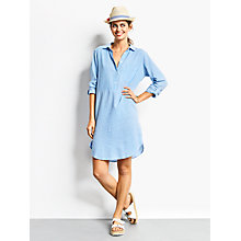 Buy hush Crete Striped Tunic Dress, Blue/White Online at johnlewis.com