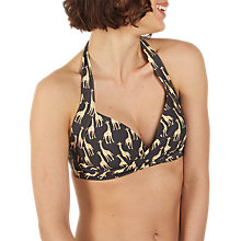 Buy Fat Face Giraffe Carrie Bikini Top, Phantom Online at johnlewis.com