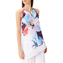 Buy Coast Costa Maya Floral Asymmetric Tunic Top, Multi/White Online at johnlewis.com