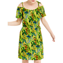 Buy Oasis Tropical Print Cami Dress, Yellow/Multi Online at johnlewis.com