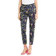 Buy Oasis Topaz Bird Structure Trousers, Multi Online at johnlewis.com
