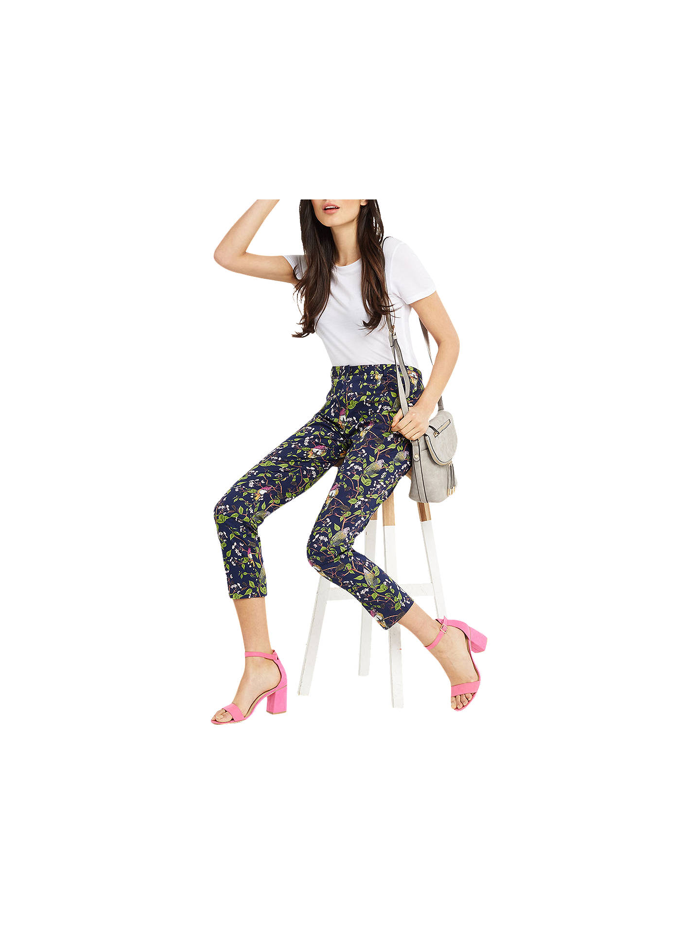 BuyOasis Topaz Bird Structure Trousers, Multi, 6 Online at johnlewis.com