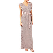 Buy Adrianna Papell Scroll Lace Mermaid Gown, Quartz Online at johnlewis.com