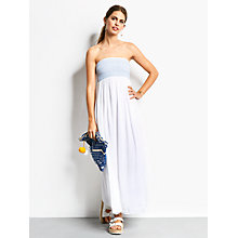 Buy hush Rio Maxi Dress, Blue/White Online at johnlewis.com
