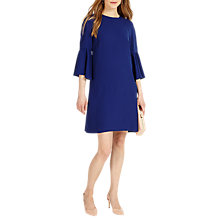 Buy Phase Eight Annabell Fluted Sleeve Dress, Blue Online at johnlewis.com