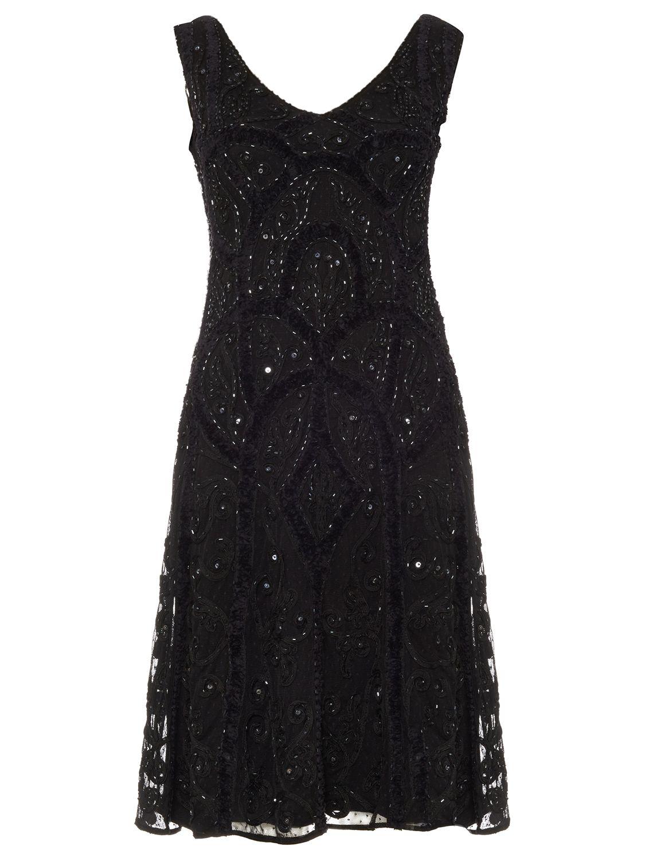Elspeth Embellished Dress, Black