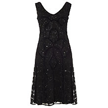 Buy Phase Eight Collection 8 Elspeth Embellished Dress, Black Online at johnlewis.com