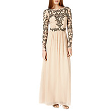 Buy Phase Eight Collection 8 Electra Full Length Dress, Champagne Online at johnlewis.com