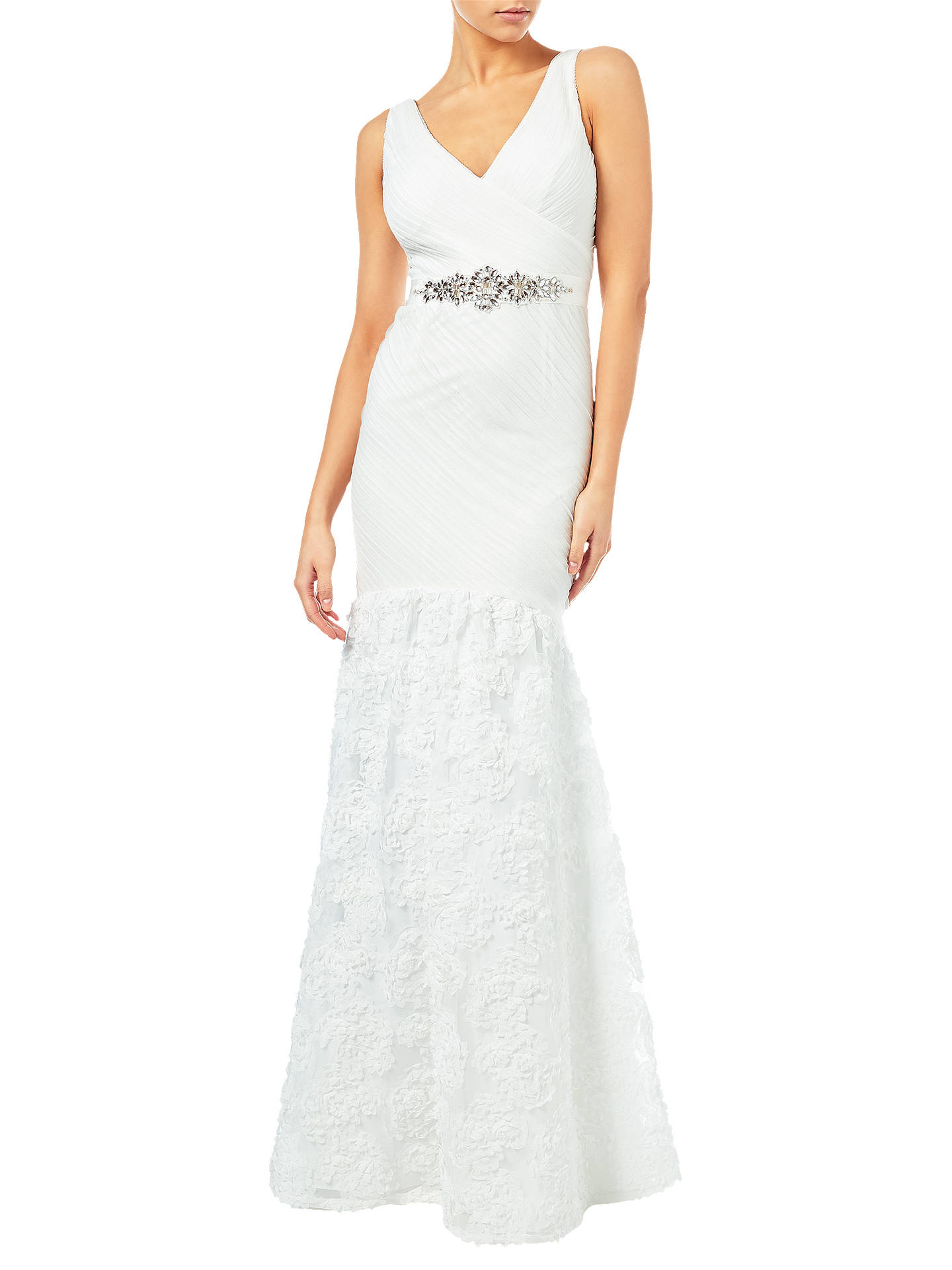 Adrianna Papell Sleeveless Tulle Chiffon Petal Gown, Ivory at John ...