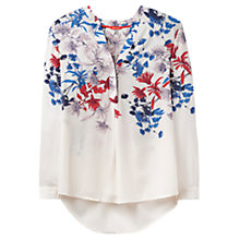 Buy Joules Rosamund Printed Blouse, Cream Fay Floral Online at johnlewis.com