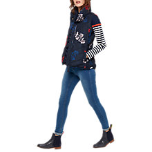Buy Joules Larkhill Padded Gilet, Marine Navy Fay Floral Online at johnlewis.com