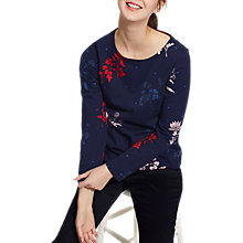 Buy Joules Harbour Long Sleeve Printed Jersey Top, French Navy Fay Floral Online at johnlewis.com