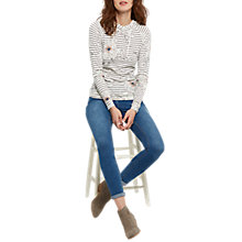 Buy Joules Marlston Print Hoodie, Cream Peony Stripe Online at johnlewis.com