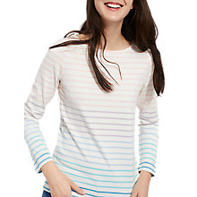 Buy Joules Harbour Stripe Long Sleeve Jersey Top, Cream Ombre Stripe Online at johnlewis.com