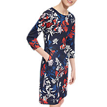 Buy Joules Beth Printed Ponte Dress, French Navy Fay Floral Online at johnlewis.com
