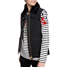 Buy Joules Inverness Quilted Gilet, Black Online at johnlewis.com