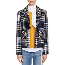 Buy Oui Check Tweed Jacket, Dark Blue/White Online at johnlewis.com