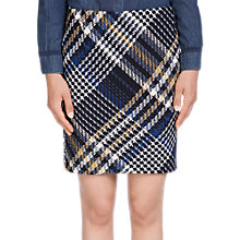 Buy Oui Check Tweed Skirt, Dark Blue/Grey Online at johnlewis.com