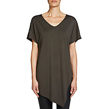 Buy Oui Relaxed Jersey Top, Khaki Online at johnlewis.com