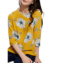 Buy Joules Leah 3/4 Sleeve Print Blouse, Antique Gold Peony Online at johnlewis.com
