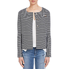 Buy Oui Striped Jacket, Dark Blue/Grey Online at johnlewis.com