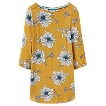 Buy Joules Felicia Long Sleeve Printed Tunic Top, Antique Gold Peony Online at johnlewis.com