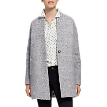 Buy Joules Woolsthorpe Cocoon Jacket, Grey Online at johnlewis.com