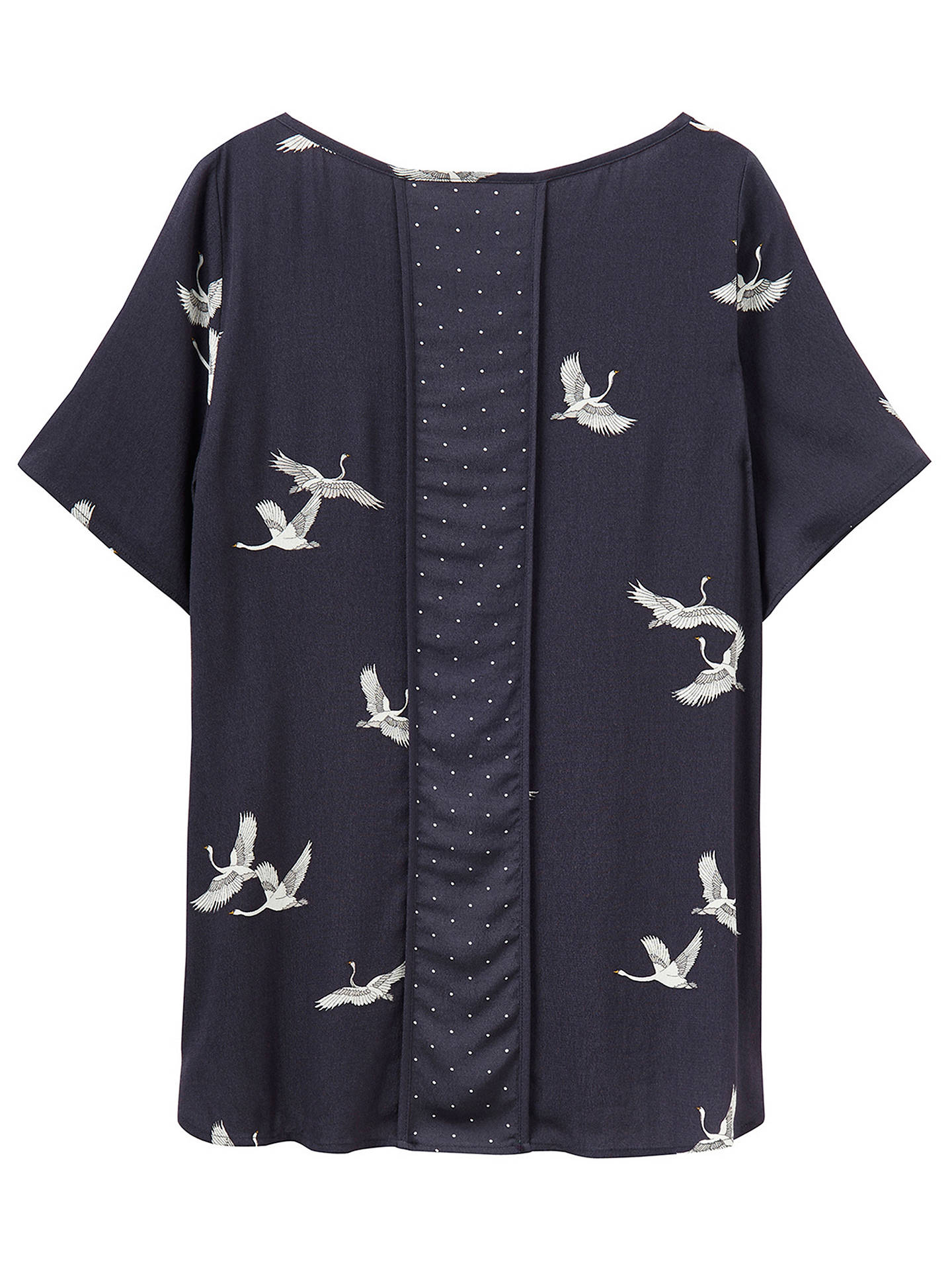 d504d59c379 Joules Hannah Swan Print Top, Grey Swans at John Lewis & Partners