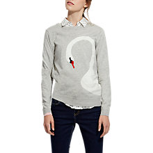 Buy Joules Miranda Long Sleeve Intarsia Jumper, Soft Grey Swan Online at johnlewis.com