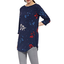 Buy Joules Felicia 3/4 Sleeve Print Tunic Top, French Navy Fay Floral Online at johnlewis.com
