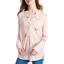 Buy Joules Rosamund Swan Print Blouse, Soft Pink Swan Online at johnlewis.com
