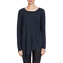 Buy Oui Metallic Fibre Pocket Knit Jumper, Dark Navy Online at johnlewis.com