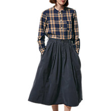 Buy Toast Cotton Twill Skirt, Blue/Black Online at johnlewis.com