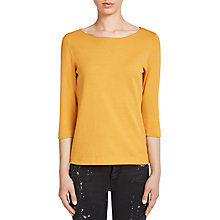 Buy Oui Knitted Top, Dark Yellow Online at johnlewis.com