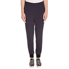 Buy Oui Relaxed Trousers, Navy Online at johnlewis.com