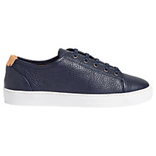 Buy Jigsaw Ayda Grain Leather Trainers Online at johnlewis.com