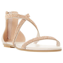 Buy Dune Niftey Cross Strap Embellished Sandals, Blush Online at johnlewis.com