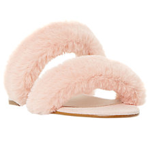 Buy Dune Lilliana Fluffy Slider Sandals, Pink Online at johnlewis.com