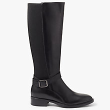 Buy John Lewis Tessa Knee High Riding Boots, Black Online at johnlewis.com