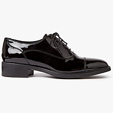 Buy John Lewis Freya Lace Up Brogues, Black Online at johnlewis.com