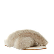Buy Dune Livvia Fluffy Slider Sandals, Grey Online at johnlewis.com