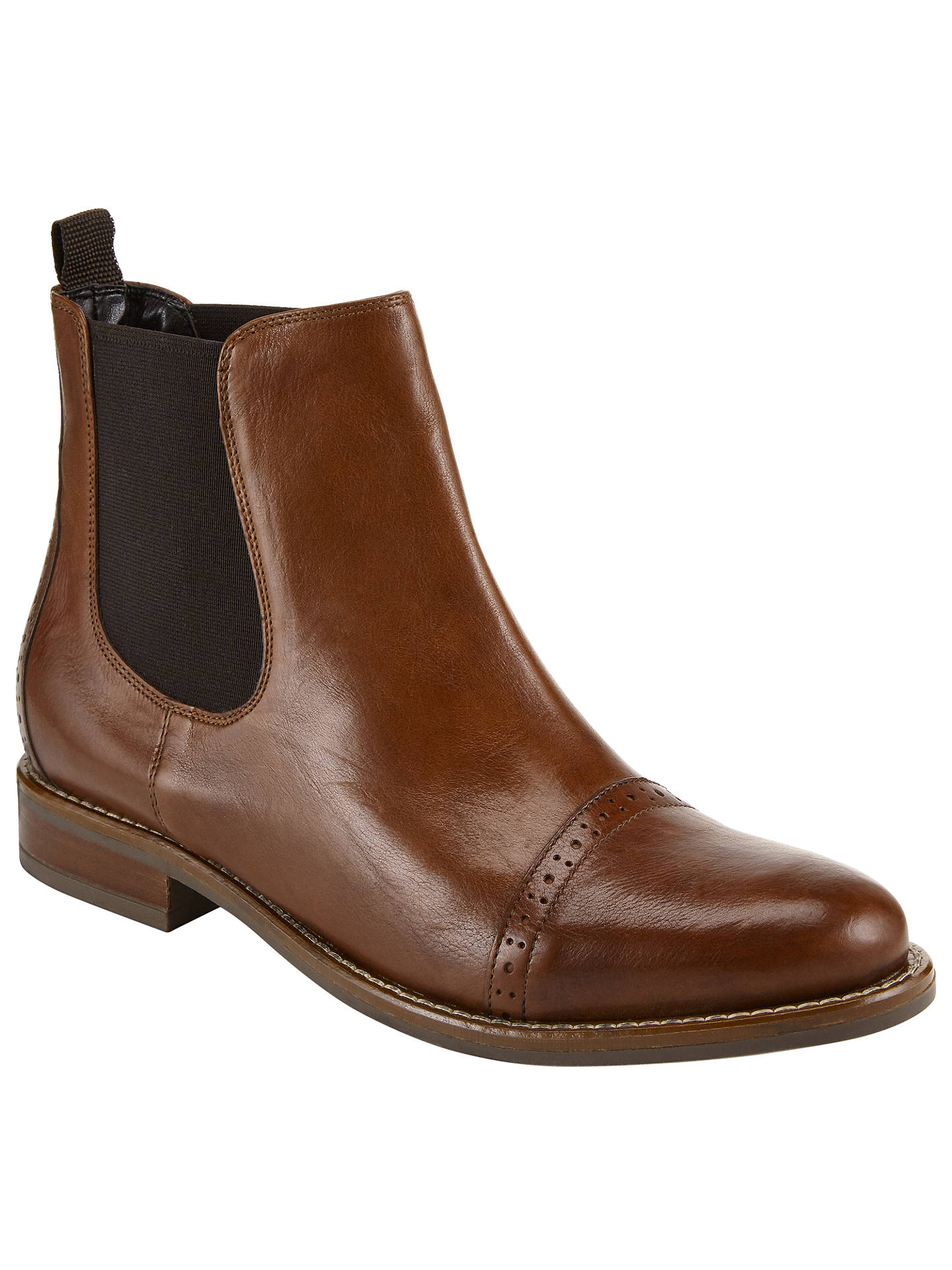 5e377fa59 Buy John Lewis Orna Ankle Chelsea Boots, Brown, 3 Online at johnlewis.com  ...