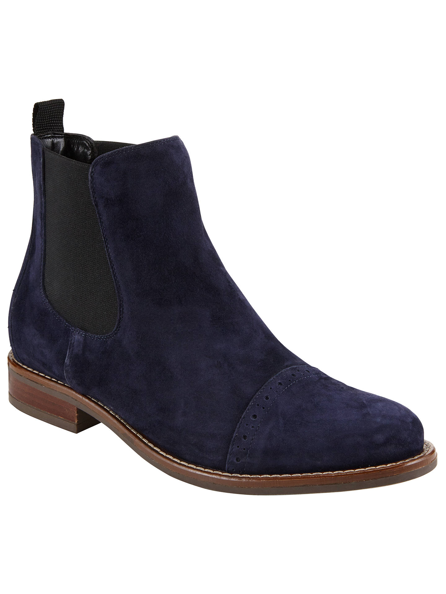 4c6a3f2ba Buy John Lewis Orna Ankle Chelsea Boots, Navy, 3 Online at johnlewis.com ...
