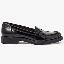 Buy John Lewis Galia Slip On Loafers, Black Online at johnlewis.com