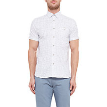 Buy Ted Baker Kanbo Leaf Print Short Sleeve Shirt Online at johnlewis.com