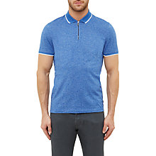 Buy Ted Baker Wennow Zip Detail Mouliné Polo Shirt Online at johnlewis.com