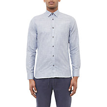 Buy Ted Baker Losta Textured Cotton Shirt, Navy Online at johnlewis.com